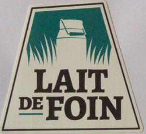 label lait de foin